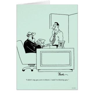 Cartão Culpa do escritório
