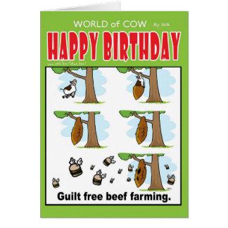 Cartão Cultivo livre da carne da culpa