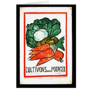 Cartão Cultivons Notre Potager 1916