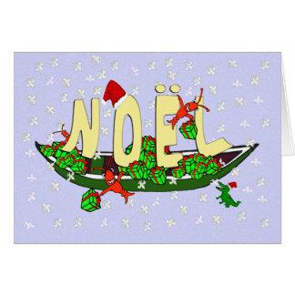 Cartão Cumprimento de Noel do jacaré do Pirogue dos