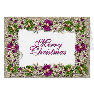 Cartão Cumprimento elegante da festão do Natal