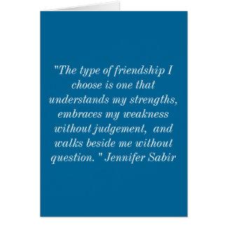 Cartão Cumprimentos da amizade
