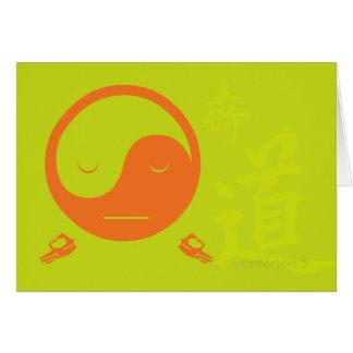 Cartão Cumprimentos da harmonia