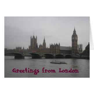 Cartão Cumprimentos de Londres