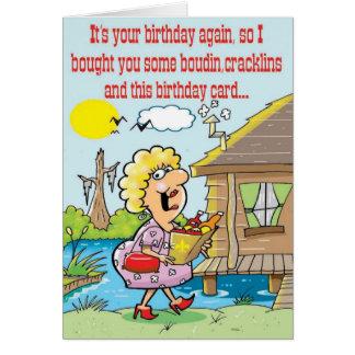 Cartão Cumprimentos do tempo de Cajun bons