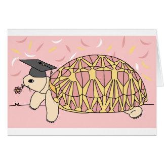 Cartão customizável 1 da graduação da tartaruga da