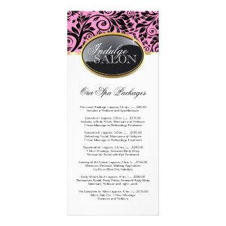 Cartão customizável à moda da cremalheira do salão