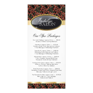 Cartão customizável à moda da cremalheira do salão 10.16 x 22.86cm panfleto