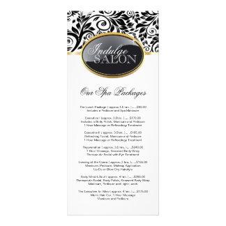 Cartão customizável à moda da cremalheira do salão panfletos informativos