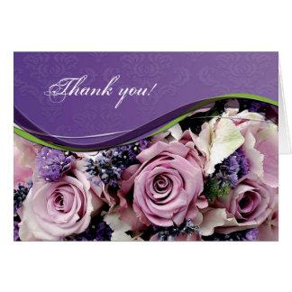 Cartão customizável cor-de-rosa & da lavanda