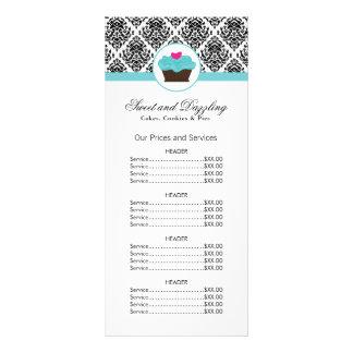 Cartão customizável da cremalheira da tabela de