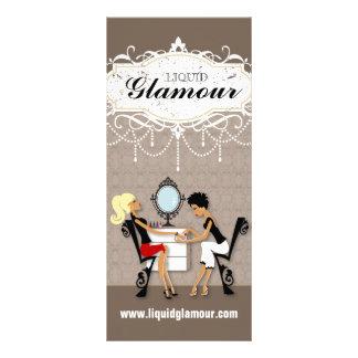 Cartão customizável da cremalheira do salão de bel 10.16 x 22.86cm panfleto