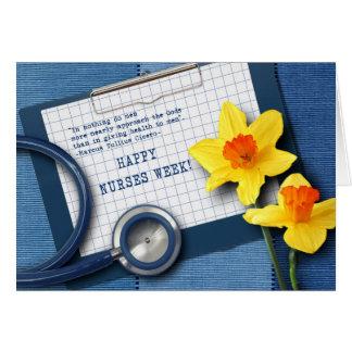 Cartão customizável da semana das enfermeiras
