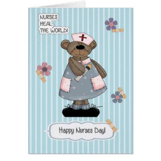 Cartão customizável do dia das enfermeiras