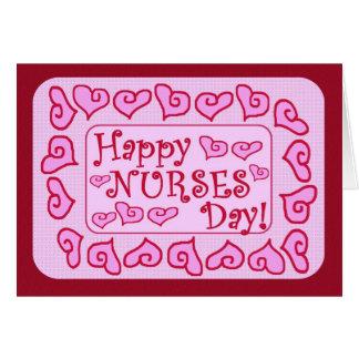 Cartão customizável do dia feliz das enfermeiras -