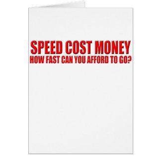 Cartão custos da velocidade