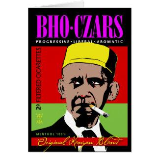 Cartão Czars de BHO, cigarros favoritos do Kenyan de