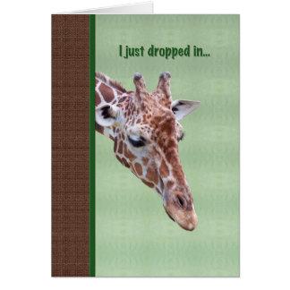 Cartão da amizade com girafa