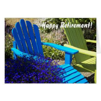 Cartão da aposentadoria da foto de Lawnchairs
