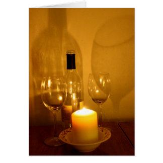 Cartão da aposentadoria do vinho e dos vidros