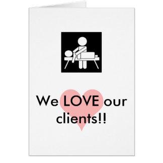 Cartão da apreciação do cliente da massagem