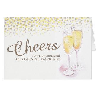 Cartão da arte do aniversário de casamento do