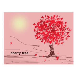 Cartão da árvore de cereja cartão postal