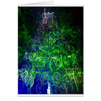Cartão da árvore de Natal da bicicleta