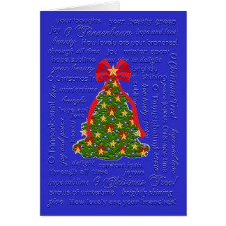 Cartão da árvore de Natal de O canção de natal de