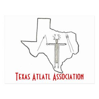 Cartão da associação de Texas Atlatl Cartão Postal