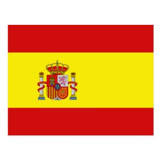 Cartão da bandeira da espanha