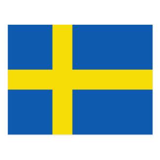Cartão da bandeira da suecia