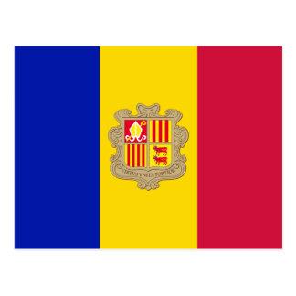 Cartão da bandeira de Andorra