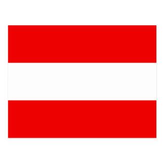 Cartão da bandeira de Áustria
