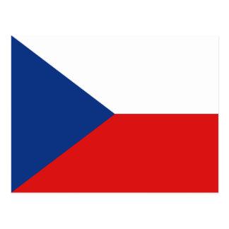 Cartão da bandeira de Czechia