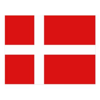 Cartão da bandeira de Dinamarca