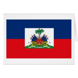 Cartão da bandeira de Haiti