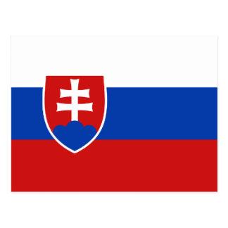 Cartão da bandeira de Slovakia