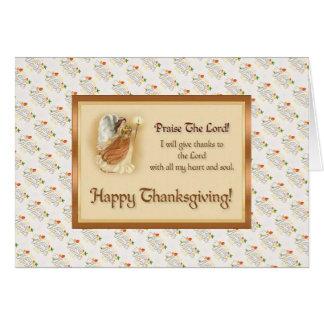 Cartão da bênção da acção de graças com citações
