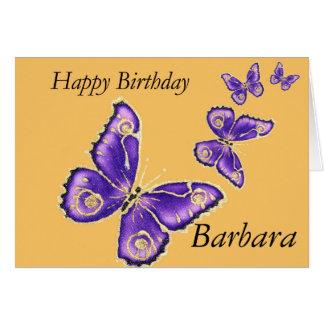 Cartão da borboleta do feliz aniversario de