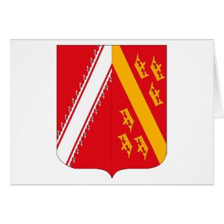 Cartão da brasão de Alsácia