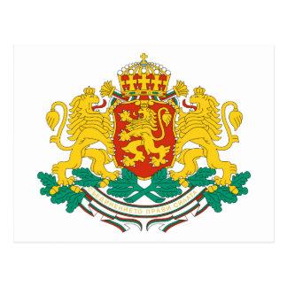 Cartão da brasão de Bulgária