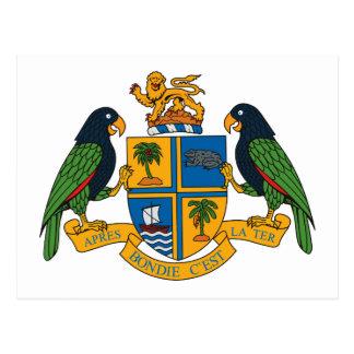 Cartão da brasão de Dominica