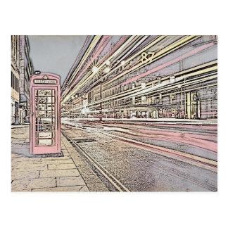 Cartão da cabine de telefone de Londres
