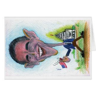 Cartão da caricatura de Obama