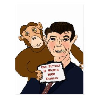 Cartão da caricatura de Ronald Reagan Cartão Postal