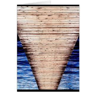 """Cartão Da """"cartão da arte de JTG do trajeto doca"""""""