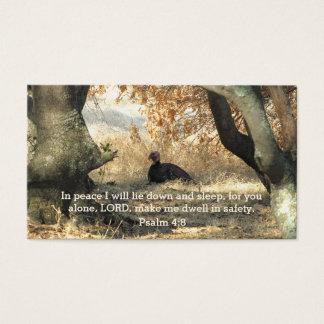 Cartão da carteira do salmo do paraíso de Turquia