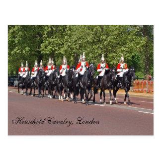 Cartão da cavalaria do agregado familiar cartão postal