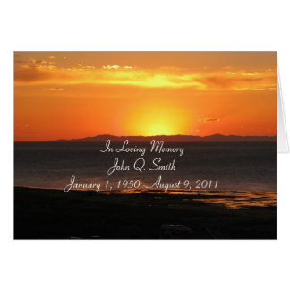 Cartão da cerimonia comemorativa